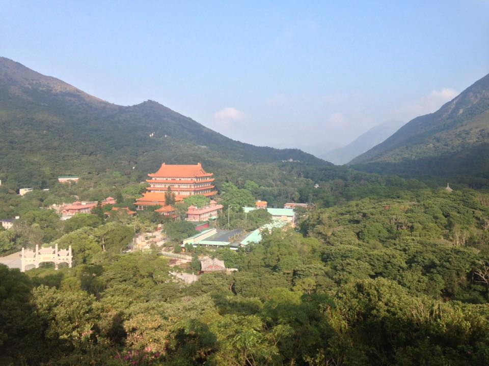 View on Po Lin Monastery from the Big Buddha