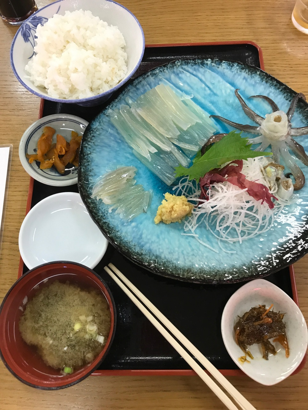 Japanese seafood breakfast