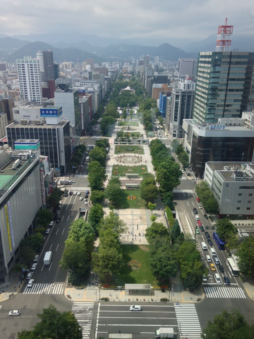 Sapporo view from TV Tower