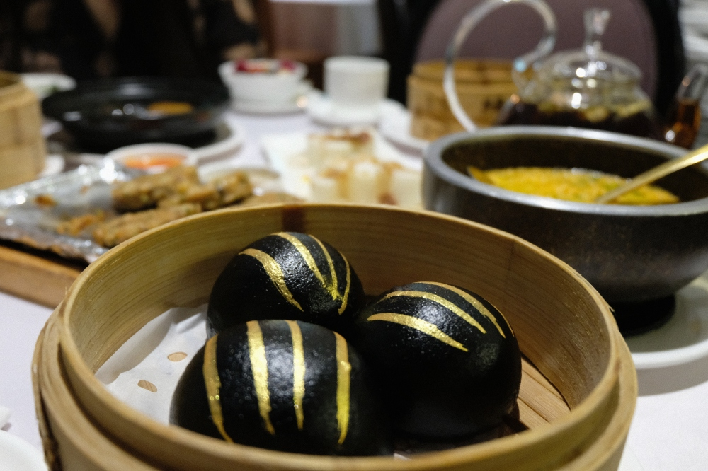 Black Buns at Dim Sum Garden